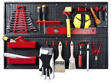 Werkzeugwand 26-teilig Werkstattwand Hakensortiment Lochwand Kunststoff 80X50cm