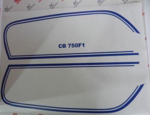 Honda CB 750 Four F1 Tankzierstreifen Tankdekor Blau für Sulfur Yellow Gelb