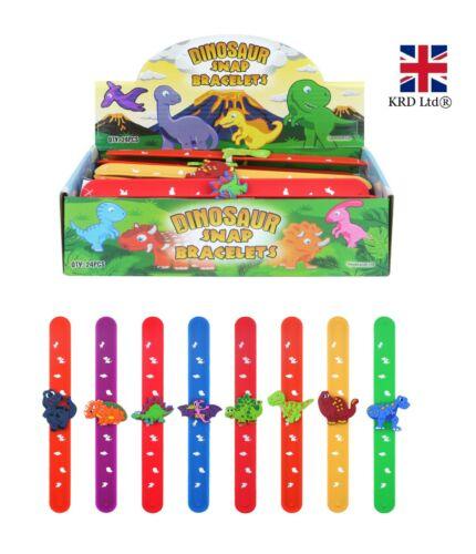 DINOSAUR SNAP BAND Bracelet Slap Bands Birthday Party Bag Boys Kids Toy Gift UK