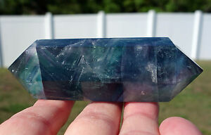 Fluorite-Blue-amp-Purple-Hard-to-Find-DOUBLE-TERMINATED-Crystal-DT-Wand-Point
