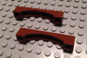 2 Brown Parts LEGO 4655611 NEW Brick 1x6 W// Inside Bow 92950