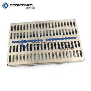 "Dental Sterilization Cassette 11"" x 7"" Rack Tray Box For 20 Surgical Instruments"