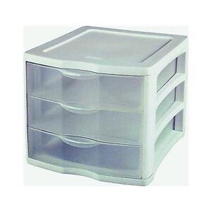 Sterilite Clearview 3 Storage Drawer Organizer  sc 1 st  eBay & Sterilite Clearview 3 Storage Drawer Organizer | eBay