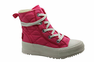 Details about Converse Chuck Taylor CT Alice Fleece Womens Pink Boots 532327C WH