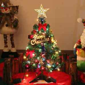 mini small christmas tree table display decorations light 50cm bell star ball ebay. Black Bedroom Furniture Sets. Home Design Ideas