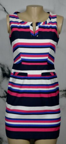 NEXT White Blue Black Cerise Red Stripe Sleeveless