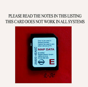 nissan connect sat nav navigation sd card qashqai 2014 2015 2015 maps ebay. Black Bedroom Furniture Sets. Home Design Ideas