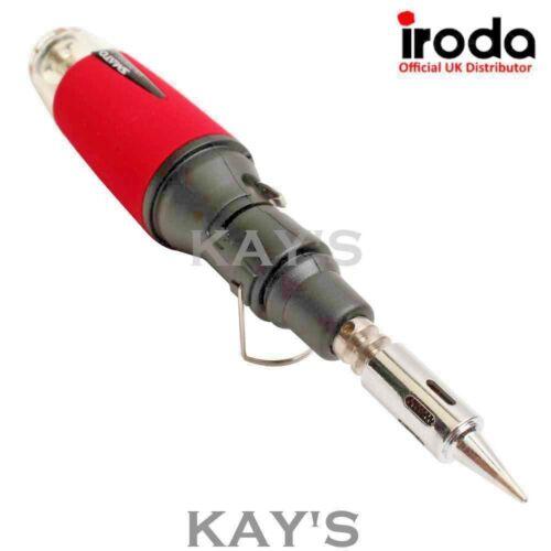 GAS SOLDERING IRON 30-70w PRO IRODA SOLDERPRO 50 REFILLABLE BUTANE BLOW TORCH