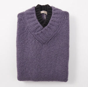 NWT-650-CRUCIANI-Heather-Purple-Wool-Mohair-Cashmere-Sweater-Vest-S-Eu-48