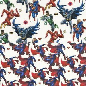 "44/"" Batman Disney Superhero Boys Pyjama Soft Brushed Flannel Cotton Fabric"