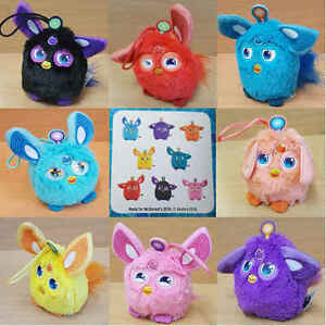 McDonalds-Happy-Meal-Toy-2016-Furby-Connect-Dino-Plush-Bag-Hanger-Toys-Various