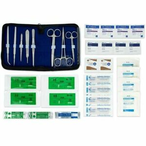 Survival Emergency First Aid Kit, Suture Kit Includes Carry Case, 34 Pieces
