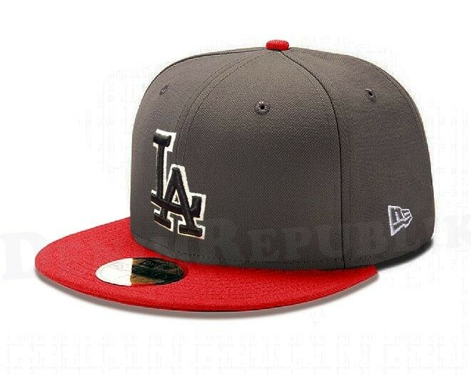 New Era 5950 LOS Baseball ANGELES DODGERS LA MLB Baseball LOS Cap New Era Fitted Hat Scarlet c751a3
