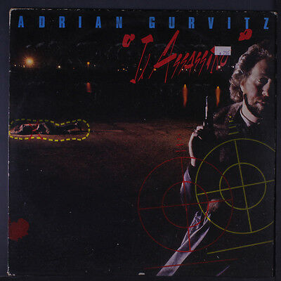 ADRIAN GURVITZ: Il Assassino LP (UK, small toc, stain on cover, some cover wear