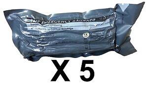 Lot-5-Military-6-034-Inch-Israeli-Compression-Bandage-IFAK-EMT-Emergency-Dressing