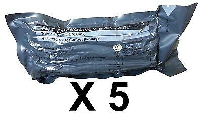 "Lot 5 Military 6"" Inch Israeli Compression Bandage IFAK EMT Emergency Dressing"