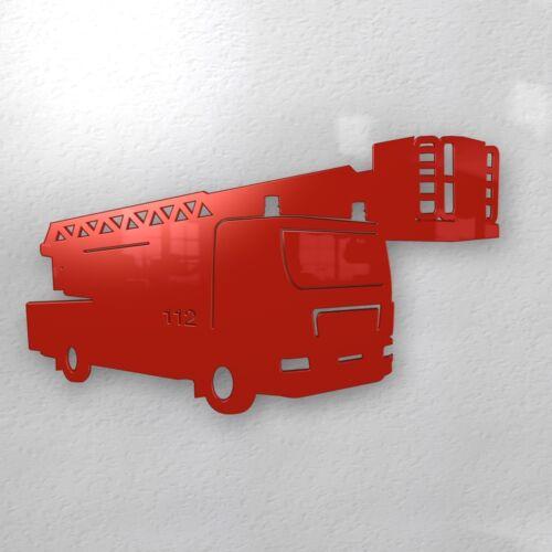 Feuerwehr Magnetwand Pinnwand Memoboard rot Kinderzimmer Junge Sam XXL groß