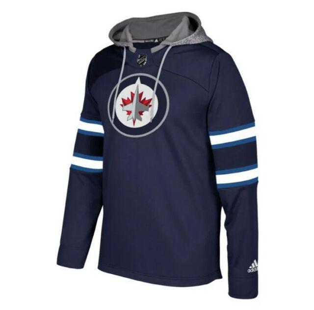 adidas NHL Winnipeg Jets Platinum Jersey Hoodie Hooded Sweatshirt ...
