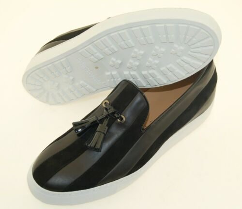 veau 42eu de Semelle Man Cuir en daim 9us sneaker blanc caoutchouc black Caoutchouc daim veau YfxnTqCgw