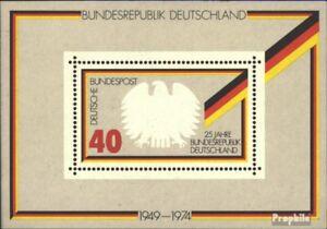 BRD-Block10-kompl-Ausgabe-postfrisch-1974-25-Jahre-Bundesrepublik