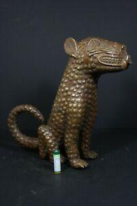 African-BENIN-Bronze-Leopard-BENIN-city-Nigeria-AFRICAN-TRIBAL-ART-PRIMITIVE