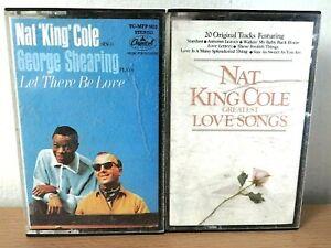 Nat King Cole Cassettes Bundle Of 2 Cassettes Retro Music Collectable