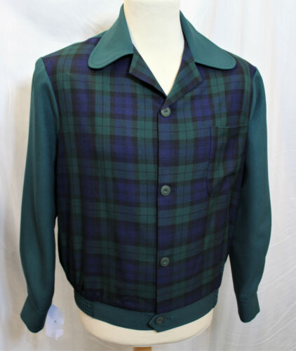 1950s Mans Mens Blouson Ricky Gab Style Sports Jacket Rockabilly Rockin 50s Gab