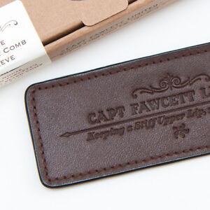 Captain Fawcett's Leather Case for Folding Pocket Beard Comb (CF.82T)