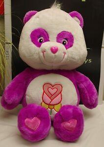 "Care Bear 28"" Polite Panda Purple White Flower Large"