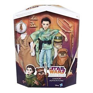 Star Wars Forces du destin Princesse Leia Organa & WICKET le Ewok Set Figure  </span>