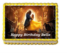 Beauty and the Beast Birthday Movie Edible Image Cake Topper 1/4 sheet