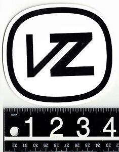 Von-Zipper-VZ-4-25-in-x-3-875-in-White-Black-Sticker-Surf-Skate-Ski-Decal