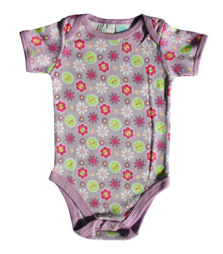 3-6 6-9 Monate NEU 3er Set Babybody Baby Body Mädchen Junge Baumwolle Lila 0-3