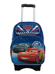 A10953 3D Pop Out Cars 3 Large Custom Rolling Backpack 16