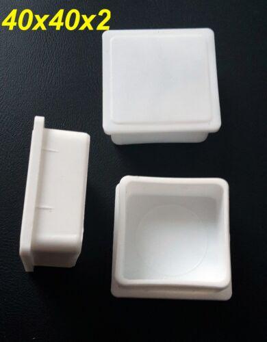 100 x fußkappen 40x40x2 mm tube bouchon extrémités blanc BOUCHONS NEUF