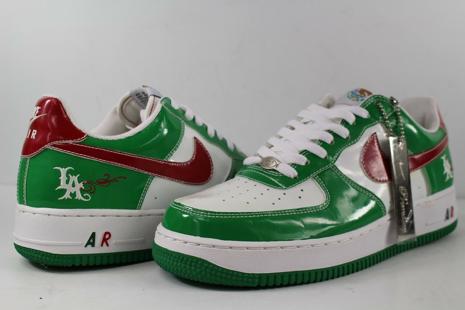 Nike Air Force 1 Mr Cartoon CInco De Mayo White Classic Green Varsity Red LA 8