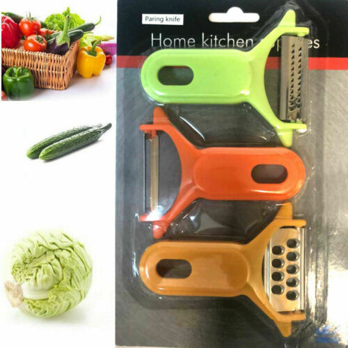 3pc Swivel Food Peeler Set Vegetables Fruit Potato Speed Peeling Kitchen Tool