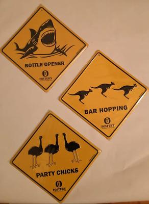 "Blechschild Motiv /""Party Chicks/"" FOSTER´S Beer AU +"