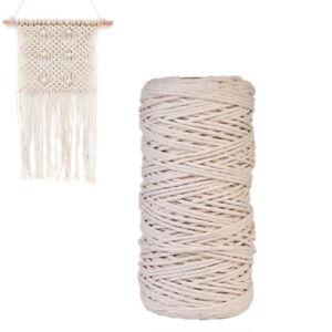 100-Natural-Beige-Cotton-Twisted-Cord-Crafts-DIY-Macrame-Artisan-String-100-m