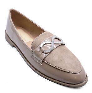 Womens Taupe Slip-on Smart Loafers Comfy Brevet Flat Work Shoes Escarpins Uk 3-8-afficher Le Titre D'origine