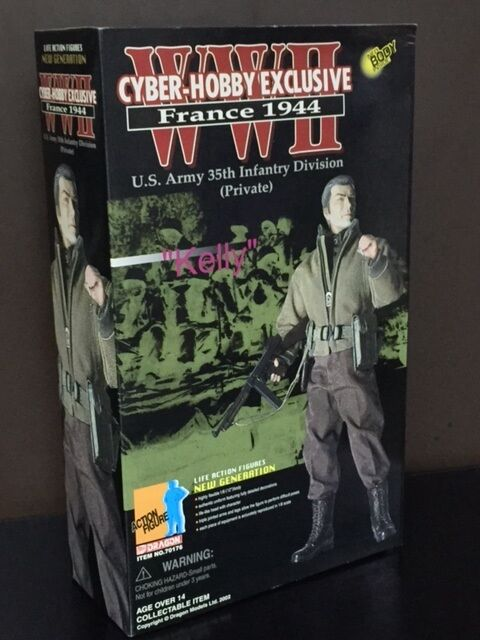 DRAGON CYBER-HOBBY EXCLUSIVE WWII FR1944 KELLY US ARMY 35TH INFANTRY DIV PRIVATE