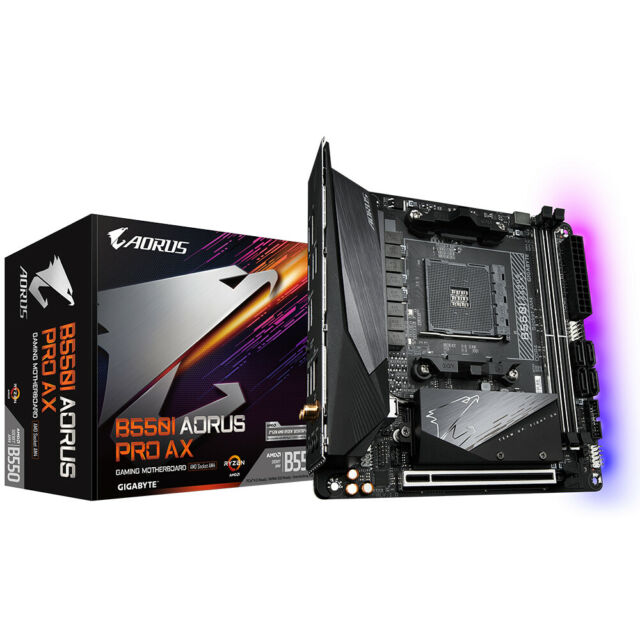 Gigabyte AMD B550 Aorus Pro AX AM4 Mini ITX DDR4-SDRAM Motherboard
