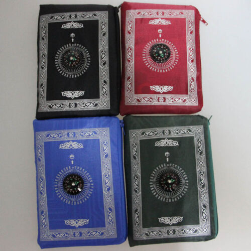 Qibla Kaaba Finder Compass Muslim-Islam T1N Tapis de Tapis de Prière de Voyage