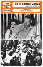FICHE CINEMA : L'ILE DU DOCTEUR MOREAU - Laughton,Arlen1932 Island of Lost Souls