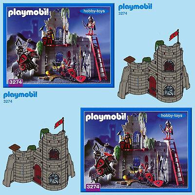 Playmobil 3274 Cavaleiros Wolf Clã Castelo peças Serviço De Peças De Reposição *