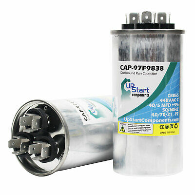 4x 40//5 MFD 440 Volt Dual Round Run Capacitor for Goodman CKL49 1 CKL49 1A CPLE4