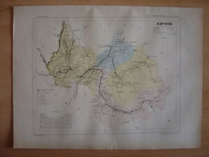 Carte Départementale Savoie Chambéry Albertville Moutiers St Jean De Maurienne Ruhw31nn-08003446-350601859