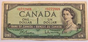 JY-0772868-CIRCULATED-1954-1-DOLLAR-BANKNOTE-combined-shipping