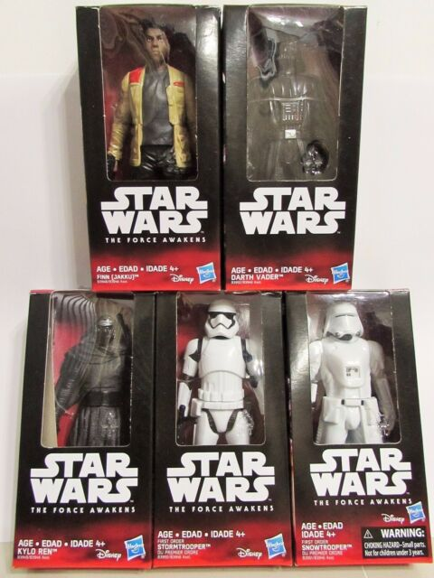 Star Wars The Force Awakens 6 inch Resistance lot of 5 Hasbro Action Figure