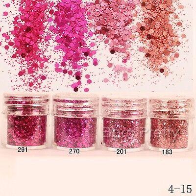 Rose Red Shining Glitter Powder Super Fine Powder Sheets Tips Nail Art Decor